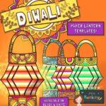 Diwali Lamp Paper Craft Template