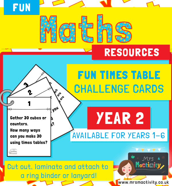 Year 2 Times Table Challenge Cards