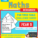 Year 5 Times Table Challenge Cards