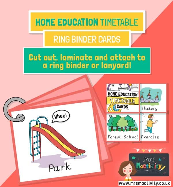 Home Education Daily Routine Cards
