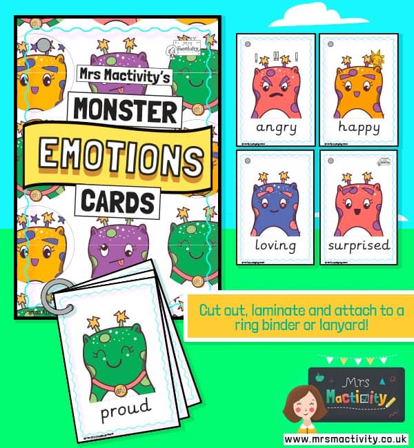 Monster Feelings Cards