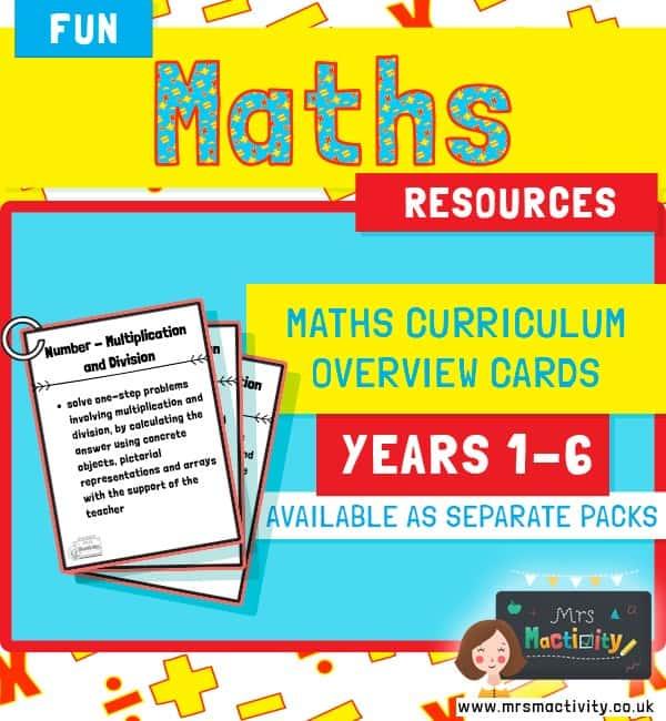 Maths Curriculum Overviews Years 1-6 Pack