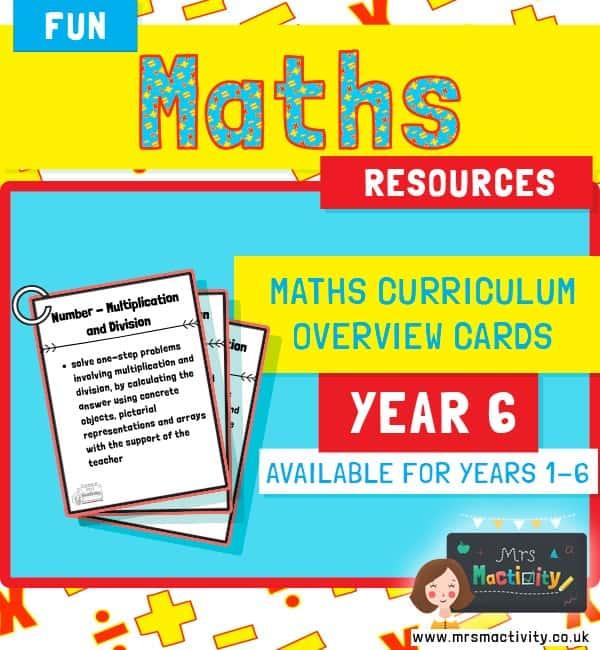 Year 6 Maths Curriculum Overview