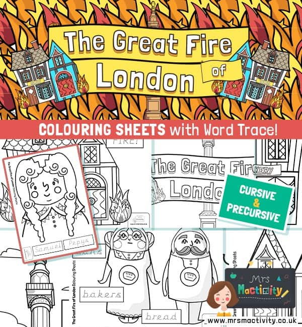 Great fire of London colouring pages