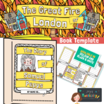website preview Great Fire of London Samuel Pepys Diary template