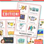 home education visual timetable