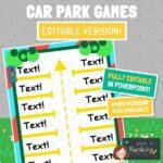 Car Park Games Editable Version 2