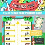 Phonics phase 5 car park game