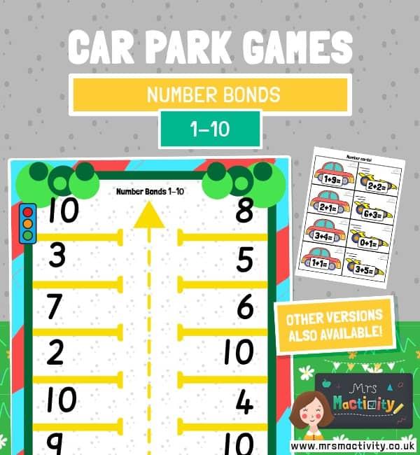 Car Park number bonds within 10