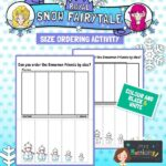 snowman size ordering activity