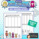 Royal Snow Fairytale Size Ordering Activity