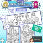 Royal Snow Fairytale Colouring Posters