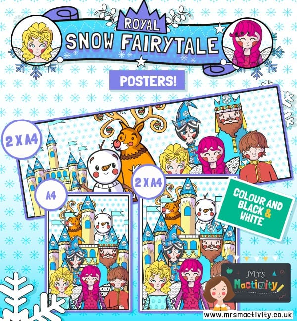 Royal Snow Fairytale Posters - Colour