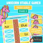 Phase 2 Tricky Words Unicorn Stabling Game
