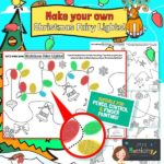 Christmas Fairy Lights Art Activity