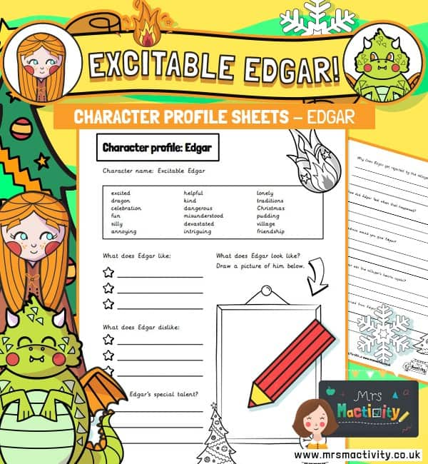 Excitable Edgar Character Description Template