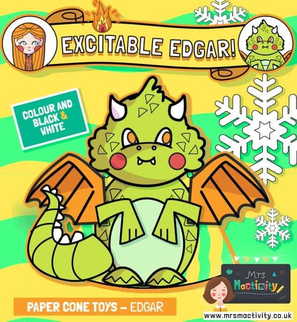 Excitable Edgar Cone Paper Toy