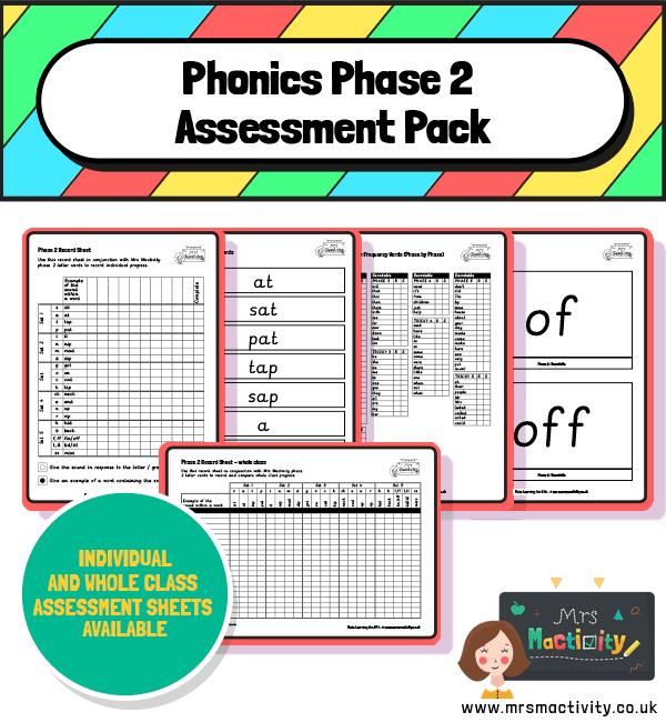 Phase 2 phonics assessment pack