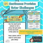 Continuous Provision Water Challenge Cards