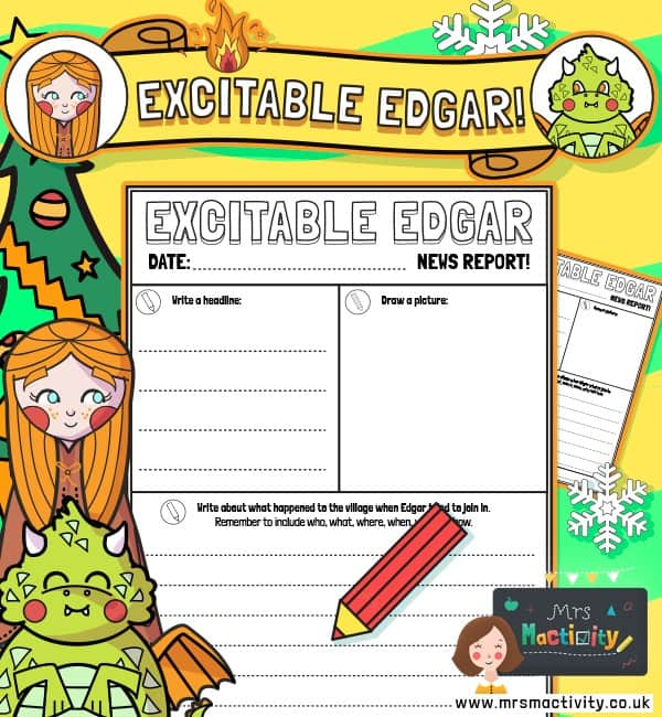 Excitable Edgar Newspaper Report Template