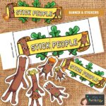 Stick man display banner