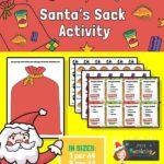 Santa's Sack Counting Activity
