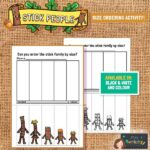 Stick man size ordering activity