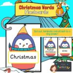 Christmas Words on Penguins