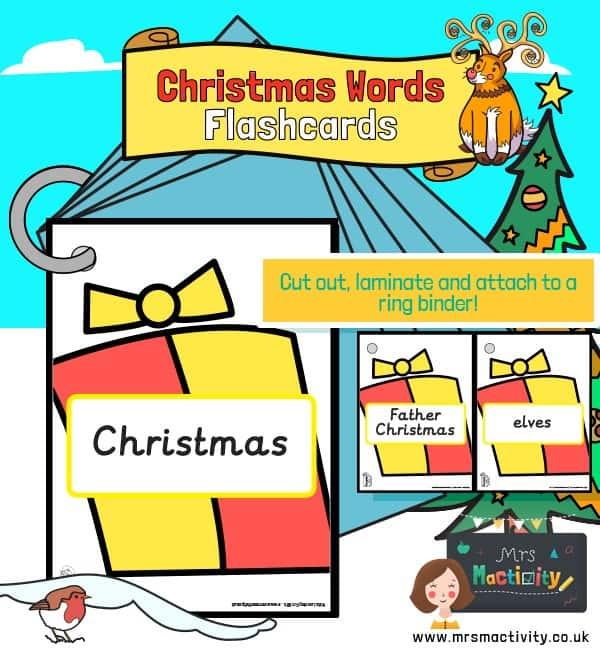 Christmas words on presents