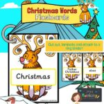Christmas Words on Rudolph Reindeer