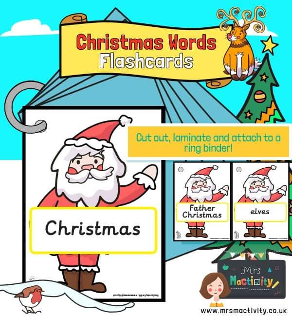 Christmas Words on Santa