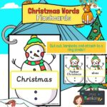 Christmas Words on Snowmen