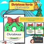 Christmas words on wreaths
