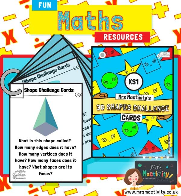 KS1 3D Shape Challenge Cards