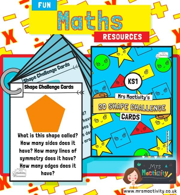 ks1 2d shape challenge cards