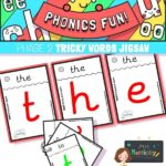 Phase 2 tricky words jigsaw cards