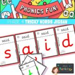 Phase 4 Tricky Word Jigsaw Cards