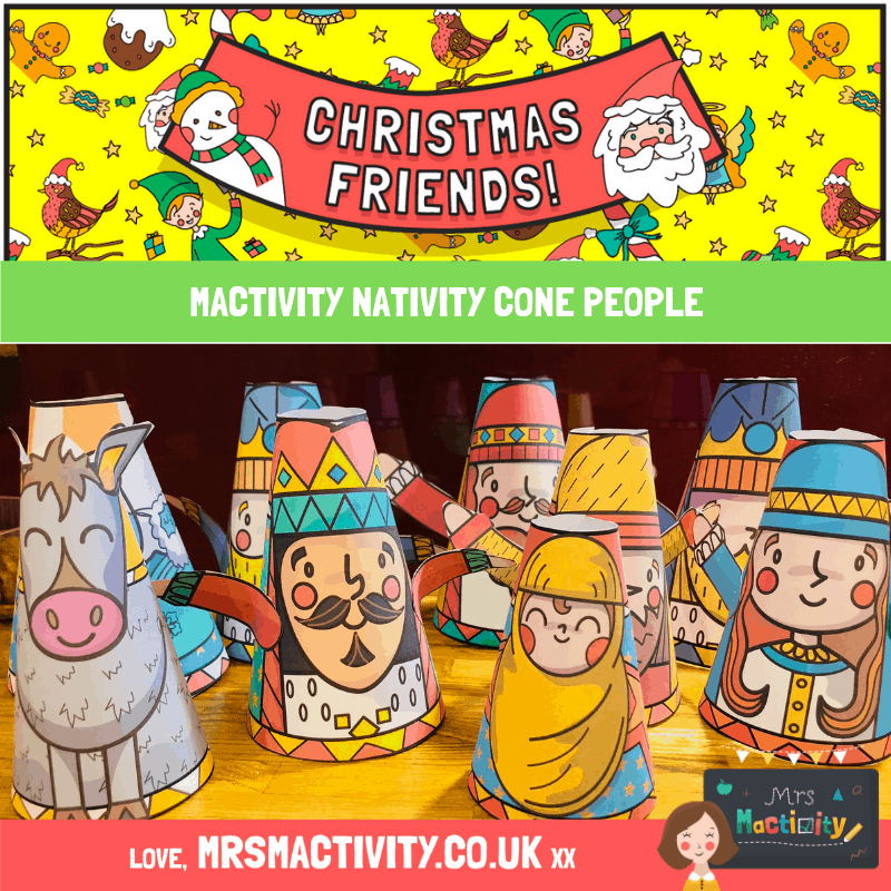 natiivty cone people printable