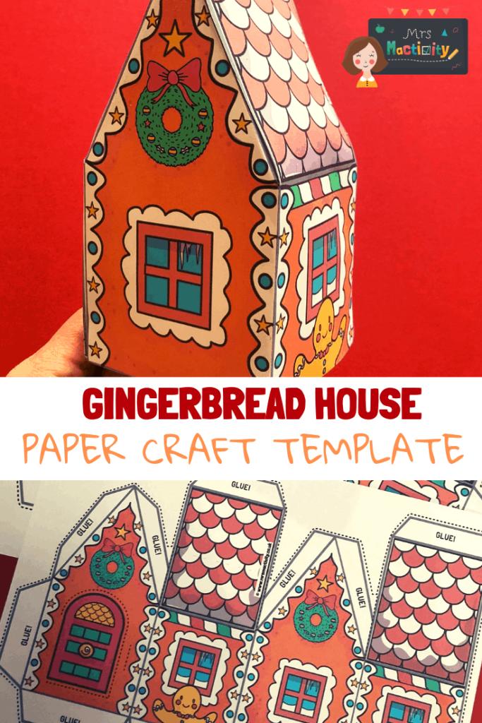 Gingebread house model paper craft