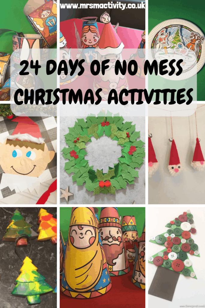 24 days of no mess Christmas Crafts