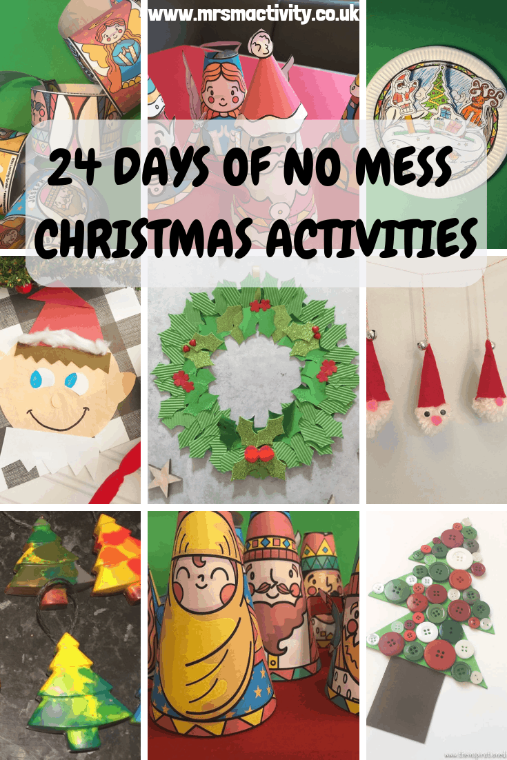 24 days of no mess Christmas Crafts