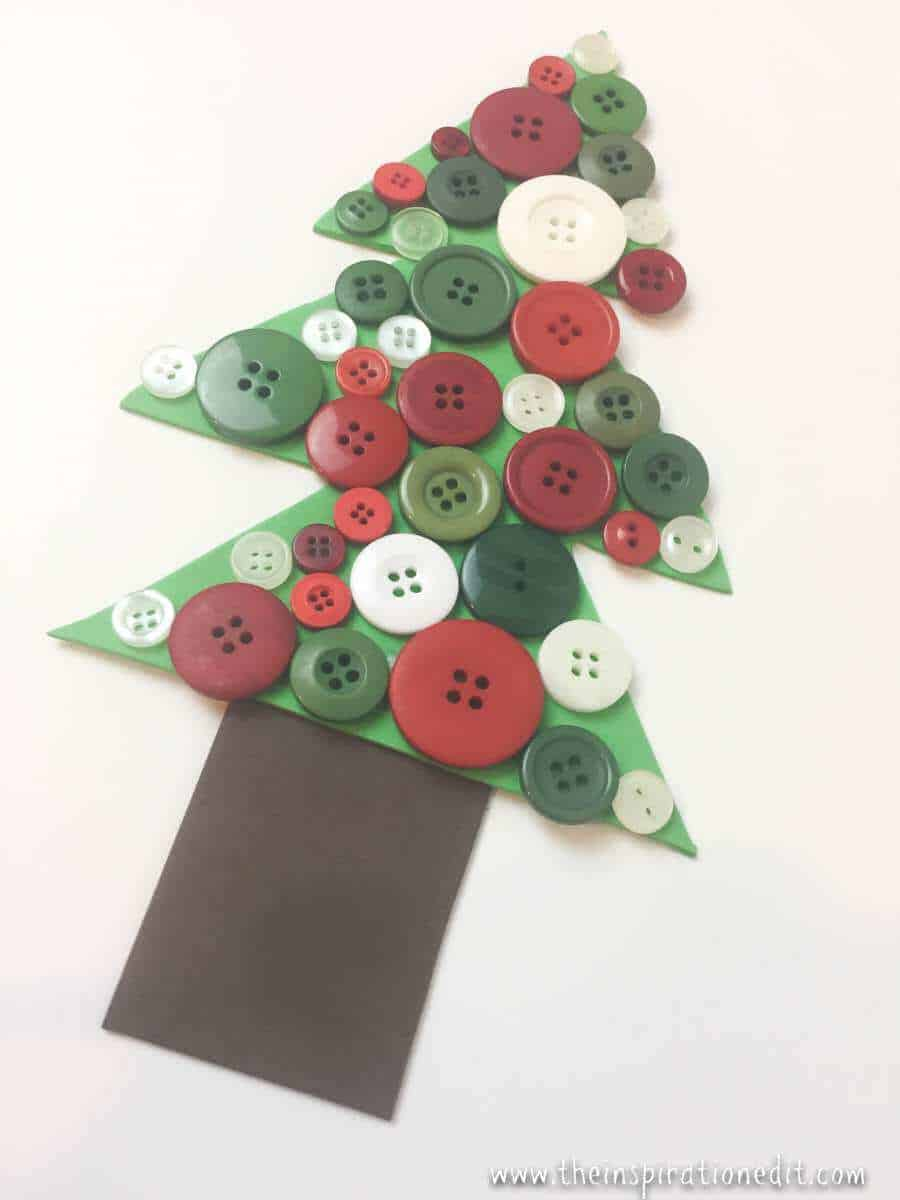 Button Christmas Tree Craft