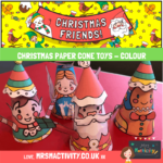 Christmas paper cone toys