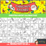 CHRISTMAS ADVENT CALENDAR COLOURING