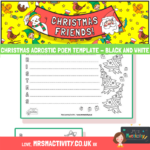 Christmas acrostic poem template