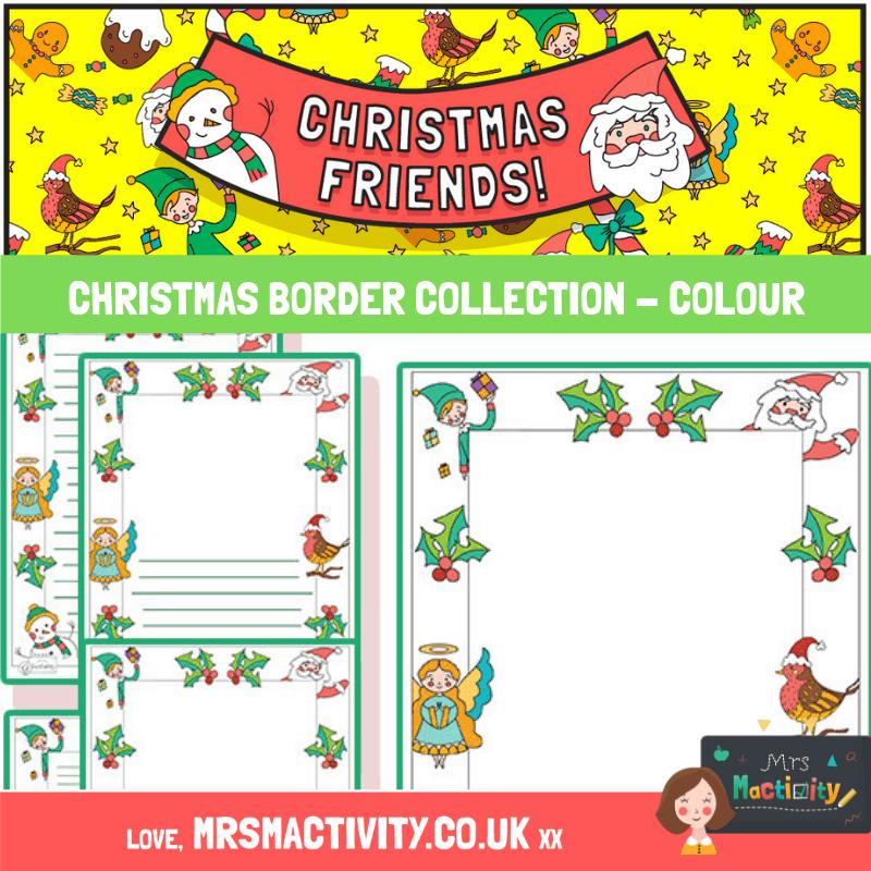 Christmas border collection colour