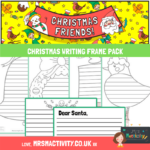 Christmas writing frame pack
