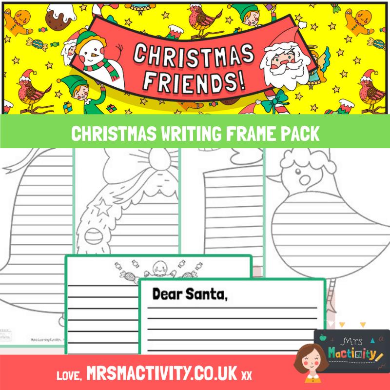 Christmas writing frame pack