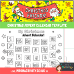 CHRISTMAS advent calendar template
