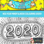 New Year 2020 Mindfulness Colouring Page